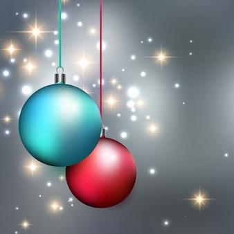 Feliz natal bauble fundo