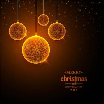 Feliz natal bola celebração fundo vector