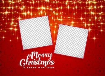 Feliz Natal brilha fundo com espaço de imagem