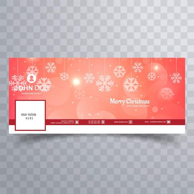 Feliz natal brilhante floco de neve banner modelo fundo