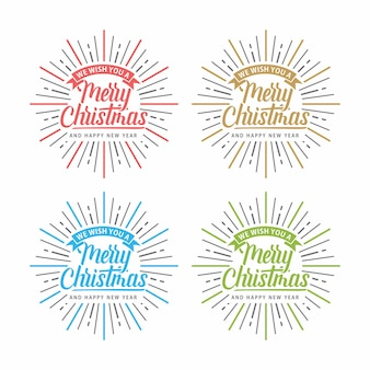 Feliz natal brilhar tipografia de texto