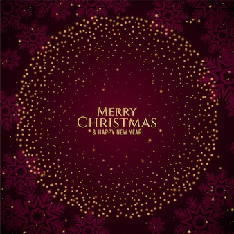 Feliz natal brilhos elegantes