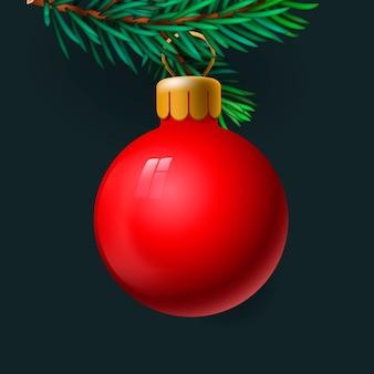 Feliz natal cartão com decoração de natal.