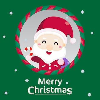 Feliz natal cartão com enfeite de natal.