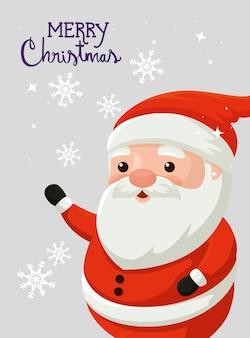 Feliz natal cartão com papai noel