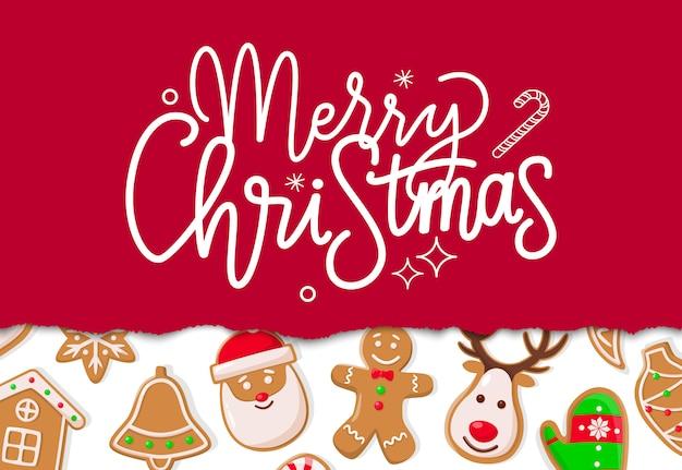 Feliz natal cartão de férias de inverno
