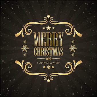 Feliz natal cartão decorativo fundo vector