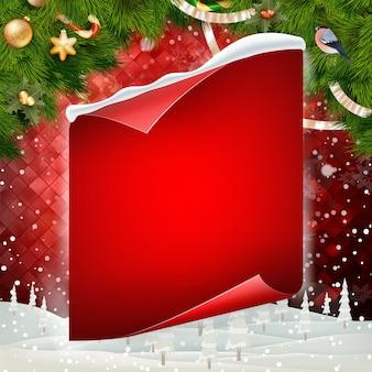 Feliz natal, cartão em branco