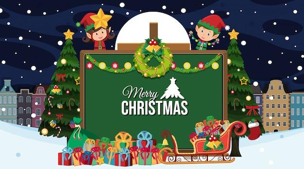 Feliz natal cartão em estilo cartoon