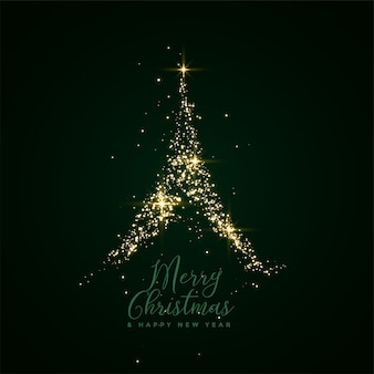 Feliz natal cartão festival de árvore de brilho