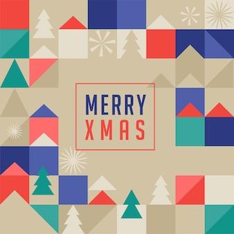 Feliz natal, cartão geométrico