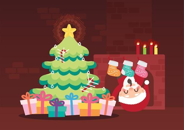 Feliz natal celebração fundo vector