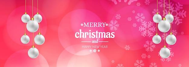 Feliz natal colorido festival banner modelo vector