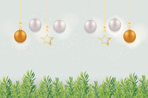Feliz natal com bolas de natal