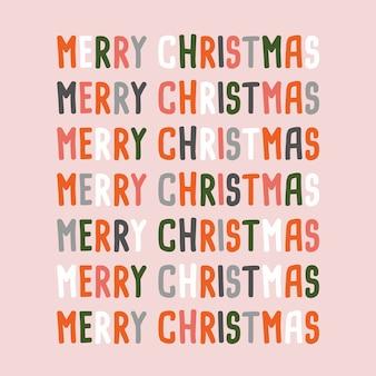 Feliz natal com design de texto colorido