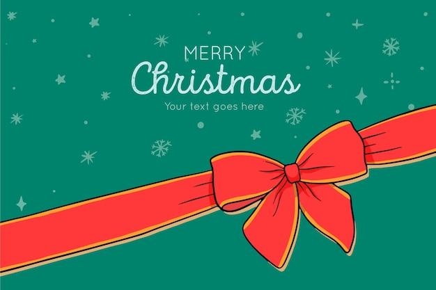 Feliz natal com fita
