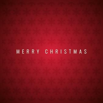 Feliz natal com flocos de neve padrão em fundo vermelho