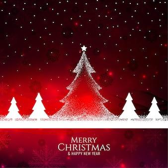 Feliz natal com fundo decorativo elegante