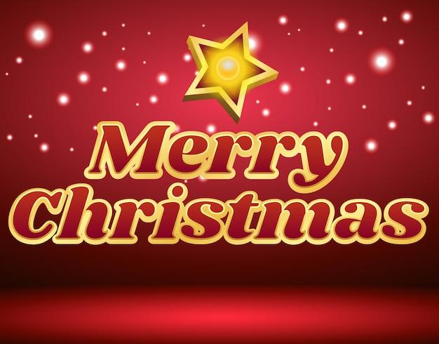 Feliz natal, com, marquee estrela, luz