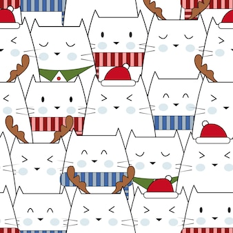 Feliz natal com pequenos gatos