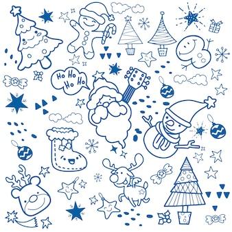 Feliz natal! companheiros de natal feliz. papai noel, boneco de neve