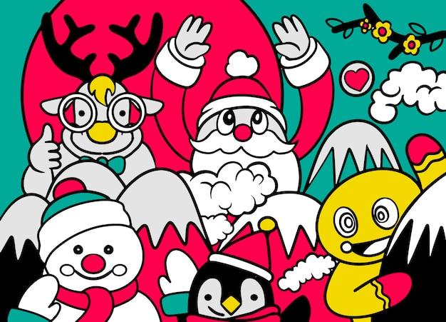 Feliz natal! companheiros de natal feliz