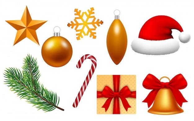 Feliz natal conjunto de ícones