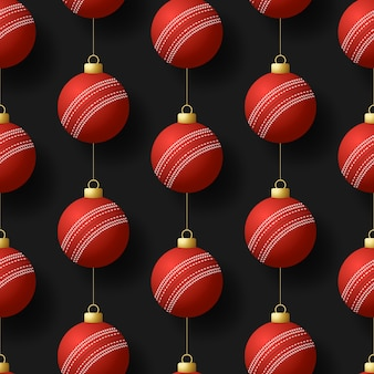 Feliz natal cricket seamless pattern.