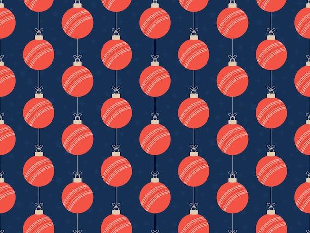 Feliz natal cricket sem costura padrão horizontal.