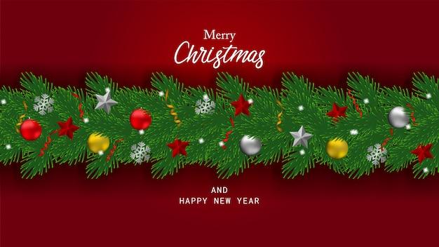 Feliz natal de fundo e feliz ano novo.