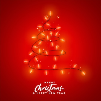Feliz natal decoração de luz vermelha de fundo