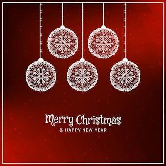Feliz natal decorativo fundo vermelho elegante