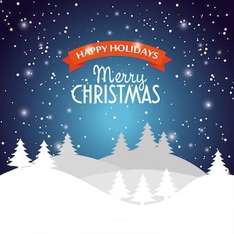 Feliz natal desejando cartão