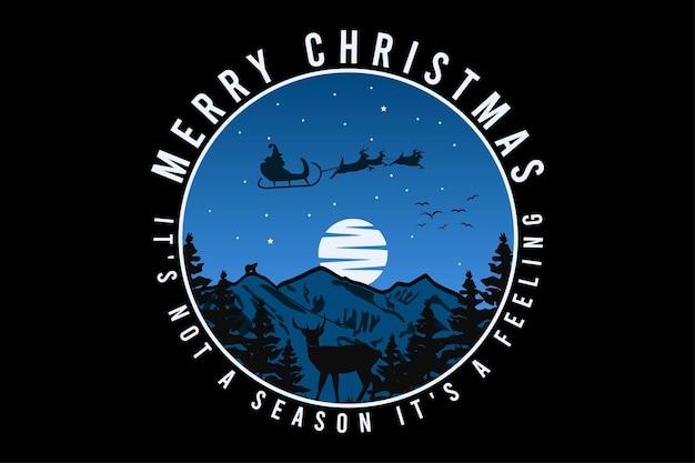 Feliz natal, design silt estilo retro