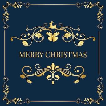 Feliz natal distintivo design vector