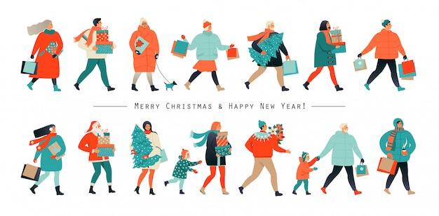 Feliz natal e ano novo banner