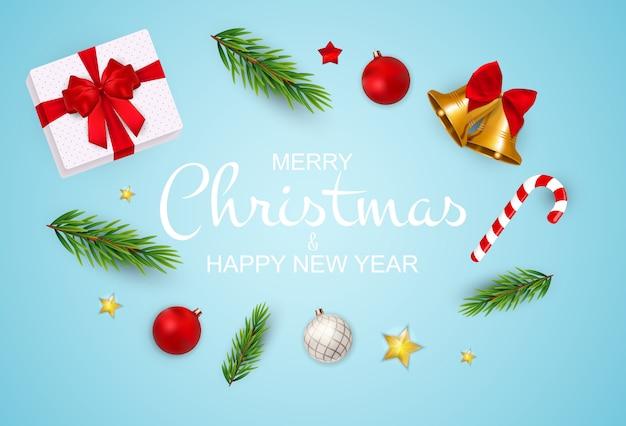 Feliz natal e ano novo fundo.