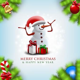 Feliz natal e ano novo quadrado