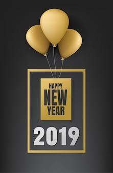 Feliz natal e feliz ano novo 2019 banner