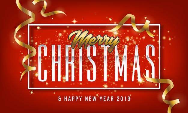 Feliz natal e feliz ano novo 2019 cartão fundo.