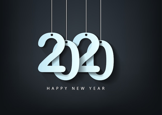 Feliz natal e feliz ano novo 2020 ano do rato