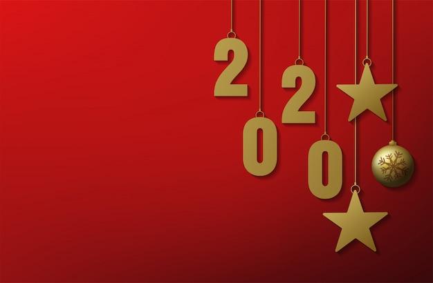 Feliz natal e feliz ano novo 2020 cartão fundo