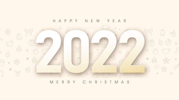 Feliz natal e feliz ano novo 2022 plano de fundo do texto