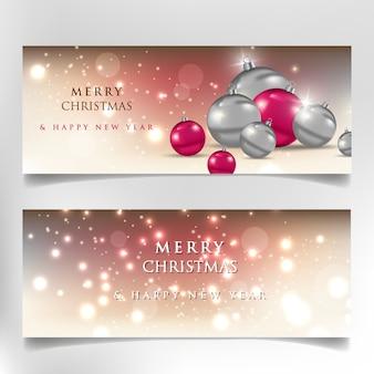 Feliz natal e feliz ano novo, banner de 2020