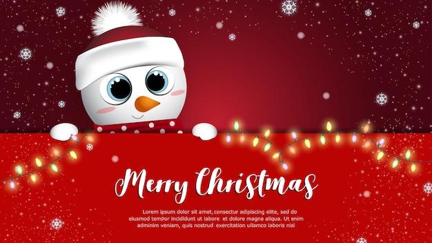 Feliz natal e feliz ano novo banner
