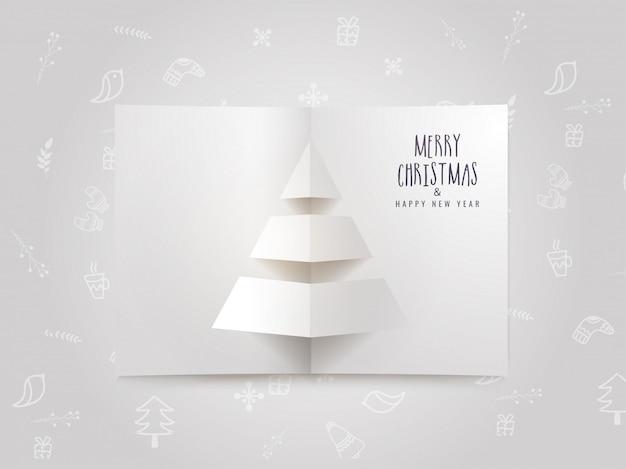 Feliz natal e feliz ano novo cartão celebração.