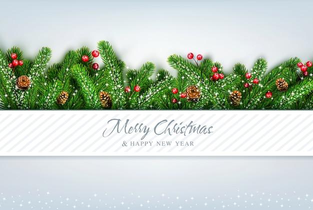 Feliz natal e feliz ano novo . cartão de felicitações