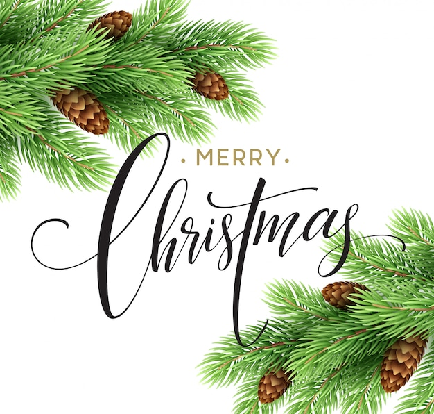 Feliz natal e feliz ano novo cartão, ilustração vetorial.