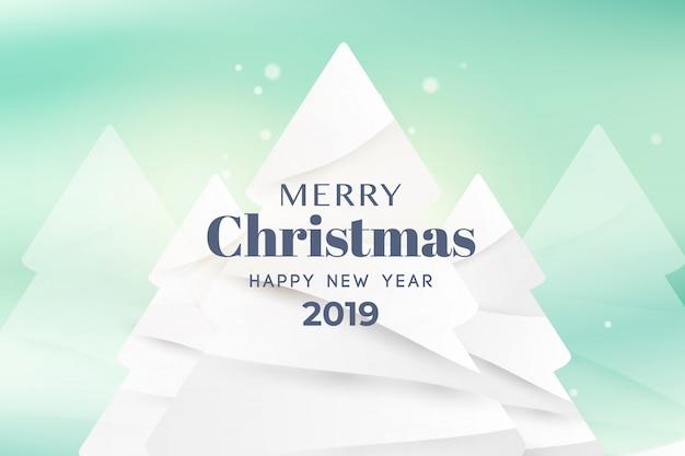 Feliz natal e feliz ano novo cartão tipografia banner modelo