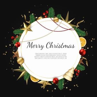 Feliz natal e feliz ano novo cartão